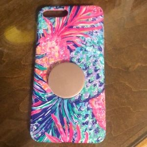 Lilly Pulitzer iPhone 8 Plus case with Pop Socket